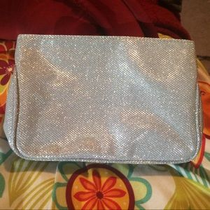 Ulta Beauty Sparkly Silver Make-Up Bag